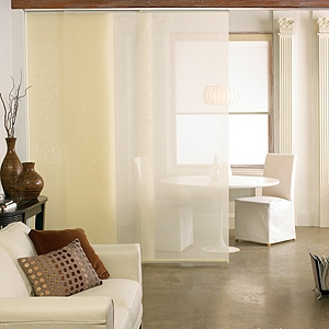 Using Panel Track Blinds As A Room Divider Window