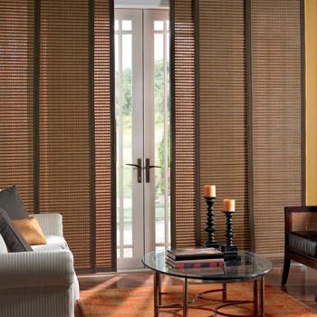 Sliding door window treatments on pinterest for Patio window treatment ideas