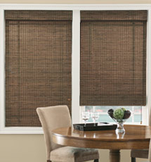 Bamboo blinds and shades, woven wood shades
